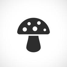 Toadstool Mushroom Vector Icon