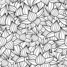 Vector Black Drawing Succulent...