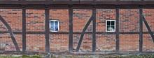 Fachwerkhaus Mit Fensterdekoration