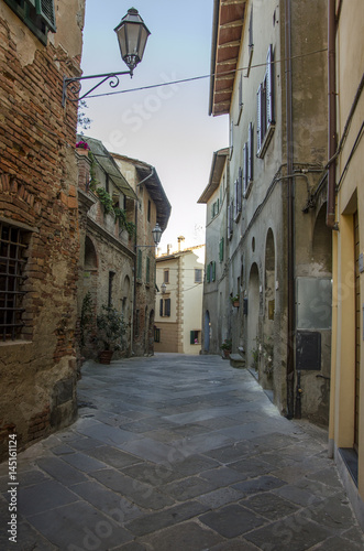 Acrylic Prints Narrow alley Palaia, centro storico.