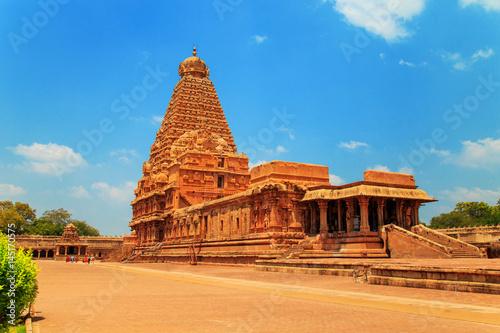 Canvas Prints Temple Brihadeeswara Temple in Thanjavur, Tamil Nadu, India.