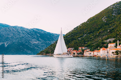 Photo Stands Egypt Yachts and boats in the Adriatic Sea, in Montenegro