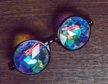 Designer Glasses With Kaleidoscope Lenses