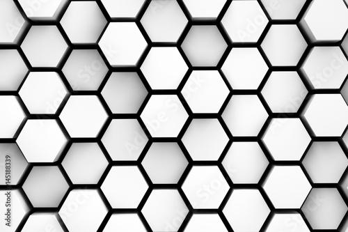 Plakaty biało-czarne szcześciokąty