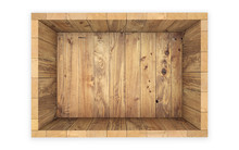 Wooden Crate Isolated On White...