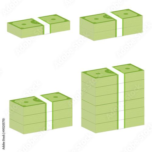 Fotografie, Obraz  money stack sign. money stack on white background.
