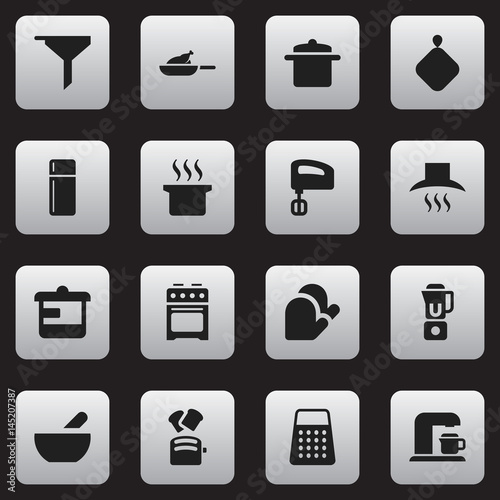 Fotografija  Set Of 16 Editable Food Icons