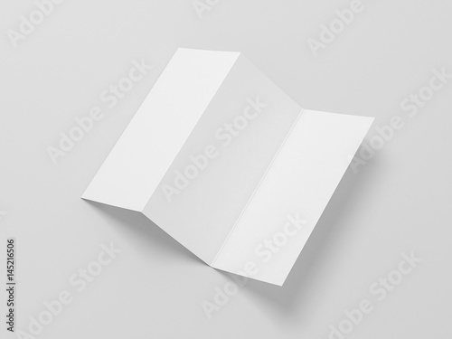 White blank opened flyer leaflet mockup on gray background white blank opened flyer leaflet mockup on gray background invitation letter 3d rendering stopboris Image collections