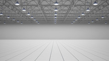 Empty Exhibition Centre. 3d Re...
