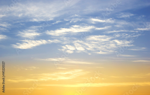 Fototapeta Early evening sky sunset obraz