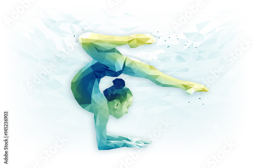 Foto op Aluminium Gymnastiek Иллюстрация по теме художественная гимнастика, гимнастика, достижение цели, концентрация.