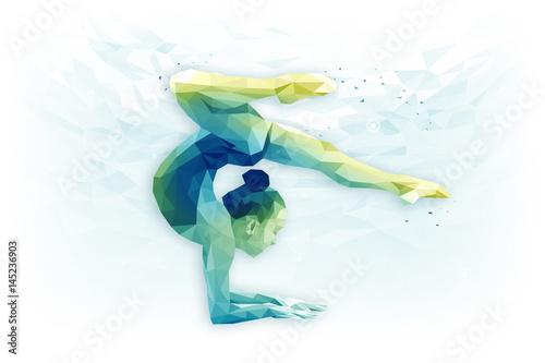 Recess Fitting Gymnastics Иллюстрация по теме художественная гимнастика, гимнастика, достижение цели, концентрация.