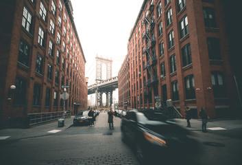 Fototapeta Manhattan Bridge from Washington Street - New York