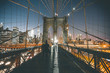 Brooklyn Bridge at Night - New York