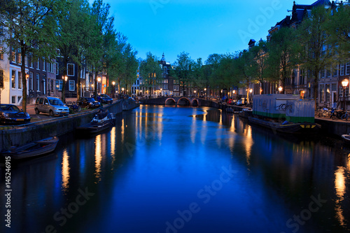 Photo  Amsterdam. Evening.