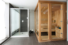 Sauna In Spa Center