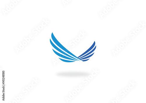 Fototapeta wing fly abstract vector logo