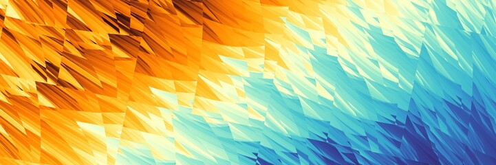 Abstract image 3:1 aspect ratio in futuristic technology style. Horizontal geometric background.