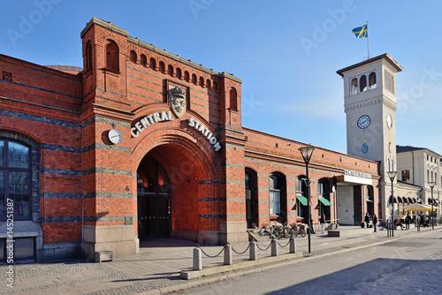 Foto auf AluDibond Bahnhof Malmö Central Railway Station
