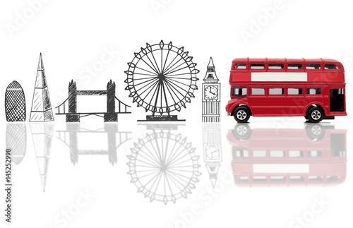 Photo  London tourist landmarks