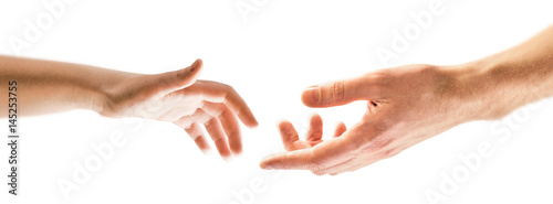 Fotografia Child and father hands