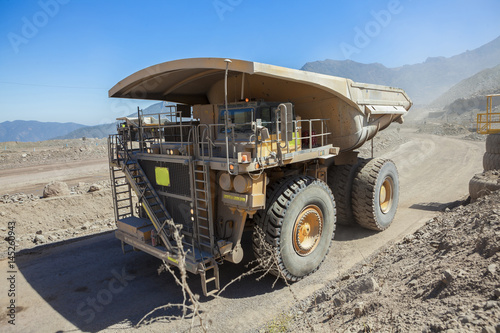 Plakat Coppermine Dumptruck. Górnictwo