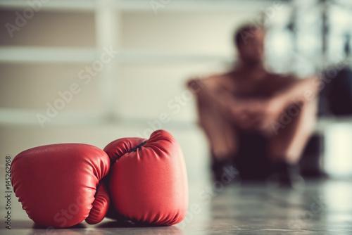 Garden Poster Martial arts Afro American boxer