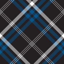 Black Check Seamless Fabric Texture