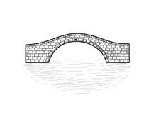 Small Stone Bridge Sign Isolat...