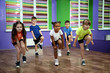 Group of children dancing in choreography class