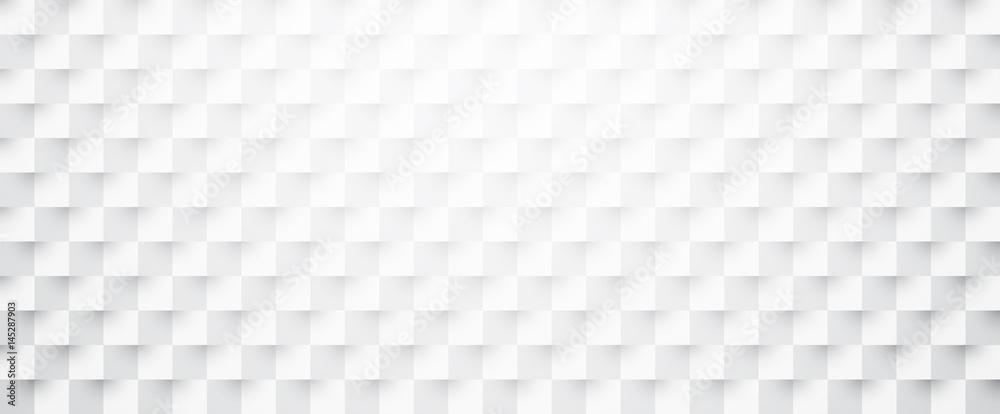 Fototapeta White paper checkered textured banner.