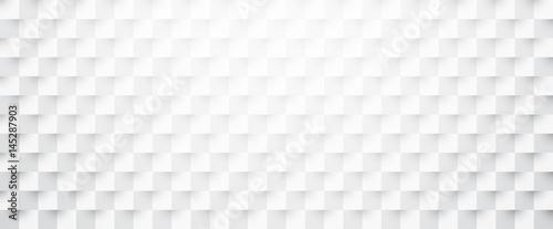 Fototapeta White paper checkered textured banner. obraz