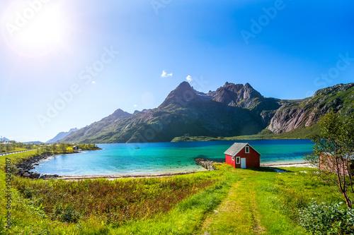 Montage in der Fensternische Skandinavien Trollfjord, Lofoten
