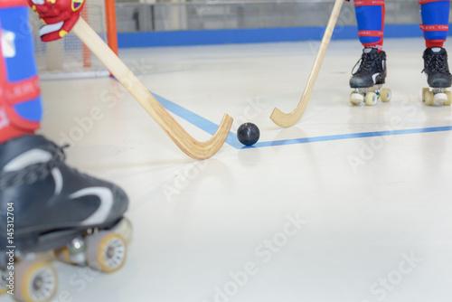 Plakat gra w hokeja na rolkach