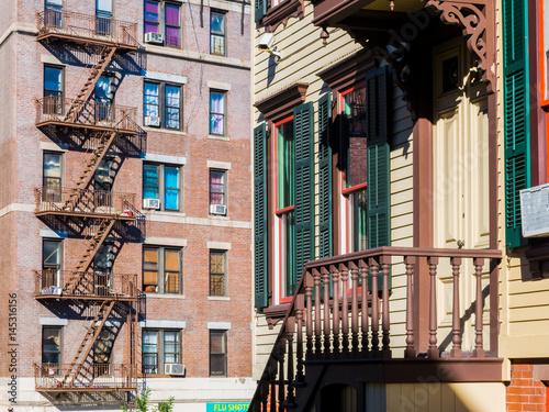 In de dag Zuid-Amerika land Sylvan terrace, Harlem. New York