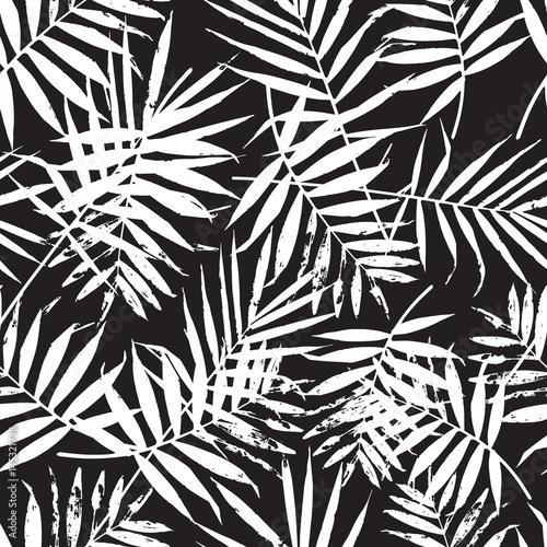 czarno-biale-liscie-paproc-palmy