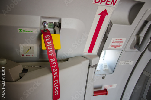 Fo your safety please remove before flight  Aviation