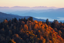 Sunrise At Smoky Mountains
