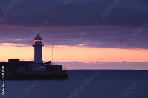 Montage in der Fensternische Leuchtturm Lighthouse