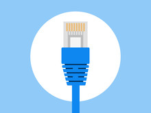 LAN Wire Ethernet Cable Icon