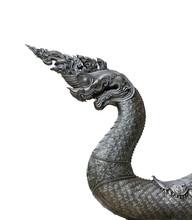 Head Of Nagas Or Serpent Statu...