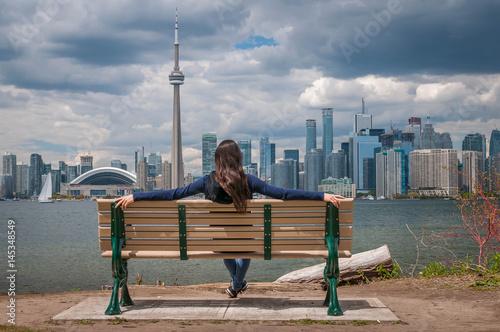 Zdjęcie XXL Toronto City Scape Girl