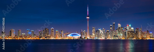 Toronto Cityscape Night Canvas Print