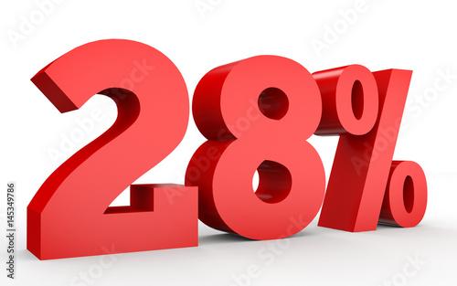 Obraz na plátne  Twenty eight percent off. Discount 28 %.