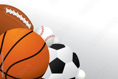 Vector Sport Balls Background