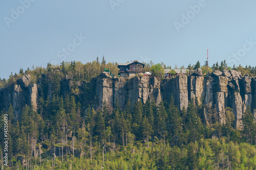 In de dag China Szczeliniec Wielki Mountain in The Stolowe Mountains, Klodzka Valley, Sudetes, Poland