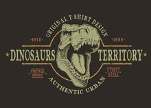 Dangerous Tyranosaur Head