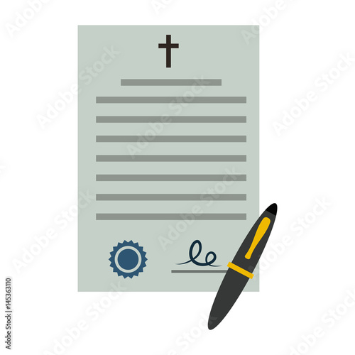 Document testament flat icon Tablou Canvas