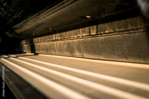 Papiers peints Tunnel dirty side step of suv for background