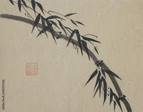 bamboo-branch-painted-in-indian-ink